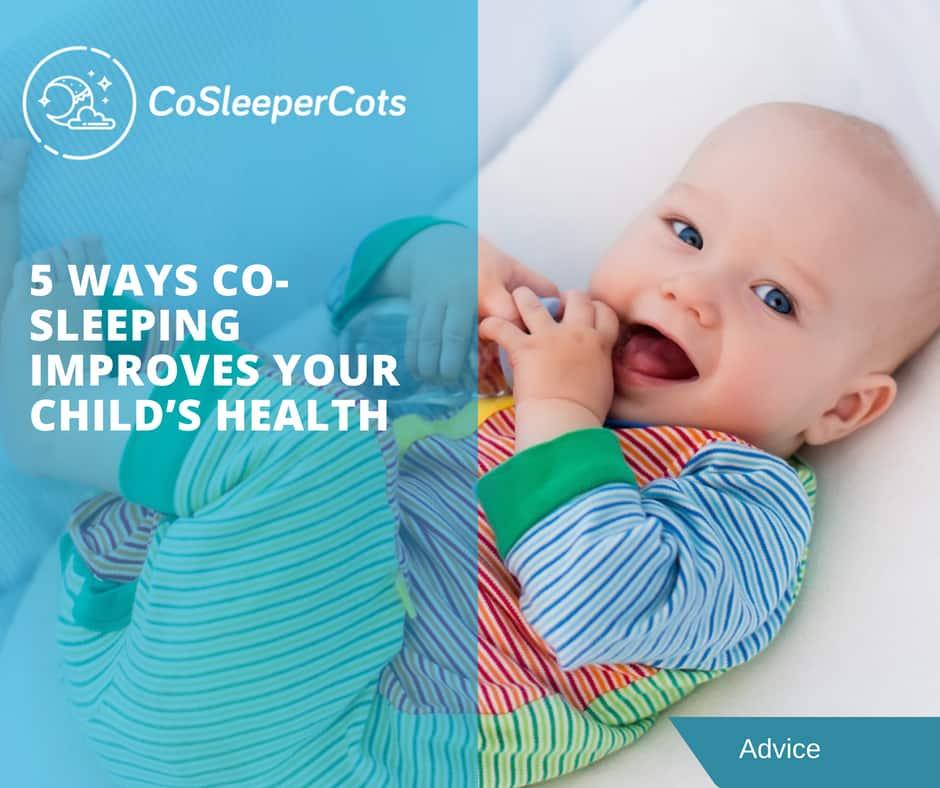 baby sleeping well in a co sleeper cot